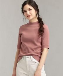 FFC 毛圈布高領 5分袖 罩衫