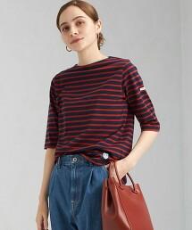 <ORCIVAL> 5分袖 橫條紋上衣 日本製