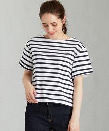 SC 海軍衫 反摺袖 一字領 T恤