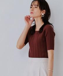 [可手洗] FFC 寬窄羅紋 方領 套頭針織衫