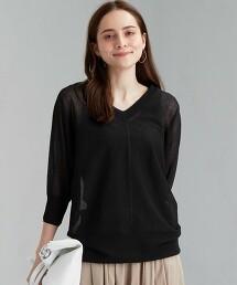 [ 可手洗 ] FM 透膚 蝙蝠袖 針織罩衫