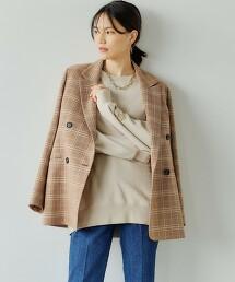 美麗諾 格紋雙排扣夾克