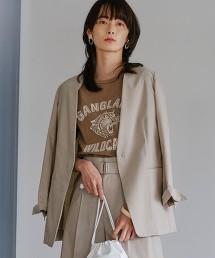 [三醋酸亞麻] ◆FM 無領 休閒西裝外套
