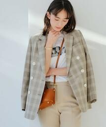 ◆FM 竹節紗 格紋 休閒西裝外套