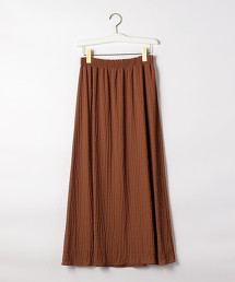 CFC 透膚 縐布碎褶長裙