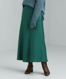 CFC 緞面 窄版 A字裙