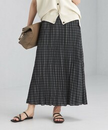 CFC 格紋 水洗 褶裙