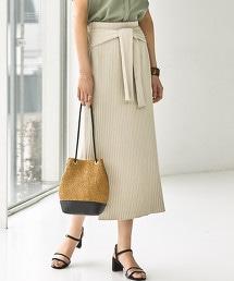 [可手洗] FFC 羅紋 針織 蝴蝶結 裙子