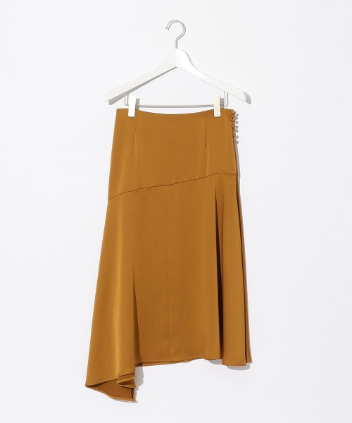 『BRACTMENT』色丁布 不規則底邊 荷葉裙