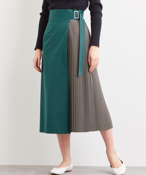FFC 假兩件 褶裙
