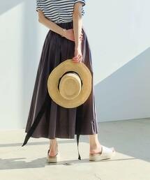◆FFC N 高密度平織純棉碎褶裙
