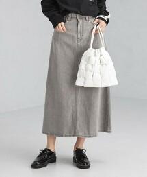 【特別訂製】<SOMETHING> 丹寧 A字裙 日本製