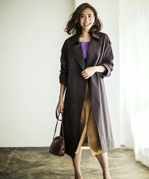 ◆FM 寬版戰壕風衣外套