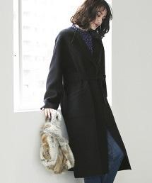 ◆KFC 正反兩用 無領大衣