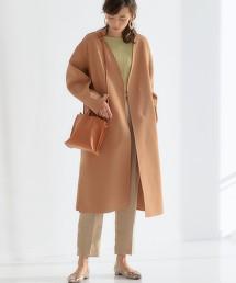 ◆FM 雙面 無領 大衣 OUTLET商品
