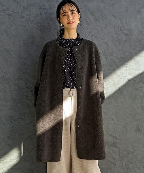 ◆NFC 仿羊絨 對襟外套