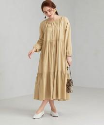 CFC INDIA 抽繩 條紋 / 素色 長版洋裝