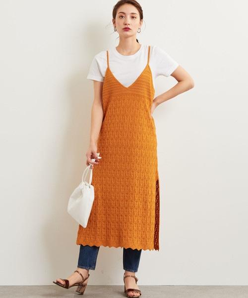 ★FFC 蕾絲編針織 洋裝