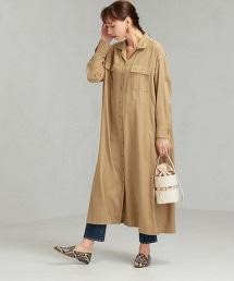 SC 斜紋織 中長 襯衫式洋裝