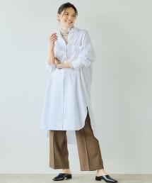 <1_OF MINE> 寬鬆 襯衫式洋裝 直條紋