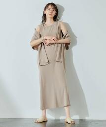 FFC 三醋酸纖維 緞面 荷葉連身裙