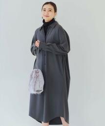 FM 簡潔法蘭絨襯衫連身裙