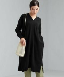 [ 可手洗 ] CFC 混亞麻 V領 洋裝