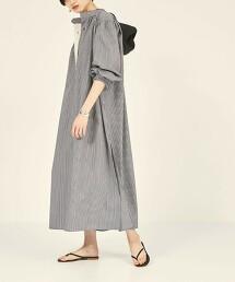 『BRACTMENT』 BM 立領 直條紋襯衫式洋裝
