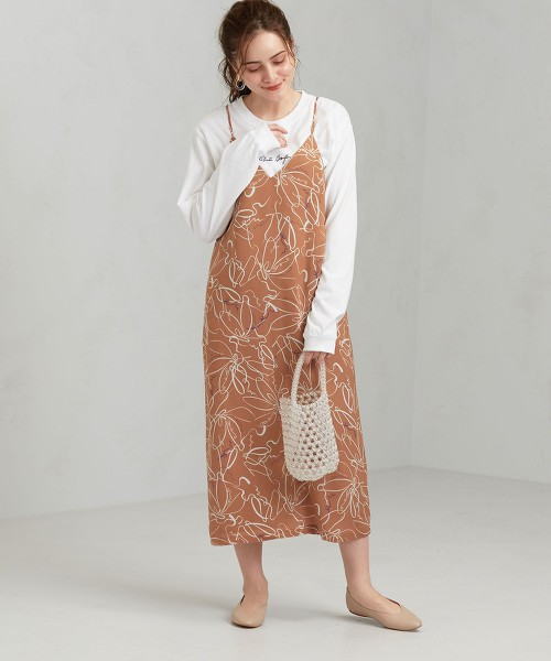 CFC 印花吊帶連身裙