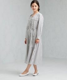 SC 無領 長版 襯衫式洋裝