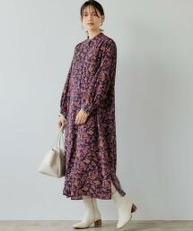 復古印花 連身裙