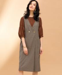 FM 格紋 一片式 連衣裙