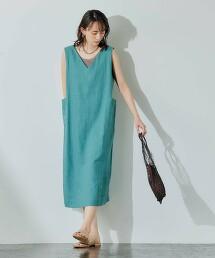 [ Breeze Linen ] CFC LI/VIS 口袋 連身裙
