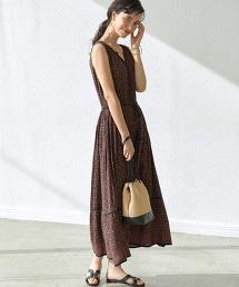 【先行預購】CFC INDIA 色塊印花洋裝