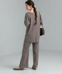 [ Livelihood] [ 可手洗 ] SC 針織 套頭衫 寬褲 成套兩件組