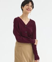 [可手洗] FFC 全針編織 x 抽針針織 對襟外套