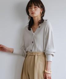 [可手洗] FFC 棉 蠶絲 羅紋 V領對襟外套