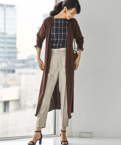 [可手洗] FM 前交叉 羅紋 長版對襟外套