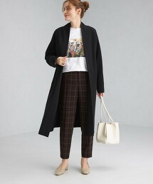 長版睡袍 針織對襟外套 -手洗-