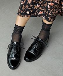 SC STIP綁帶皮鞋(後跟3cm)