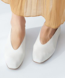 FFC 方頭 深開口 平底鞋(1.5cm高)