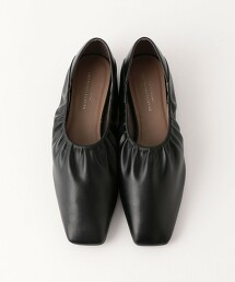 CFC 方楦頭 縮褶 平底鞋(鞋跟1.0cm)