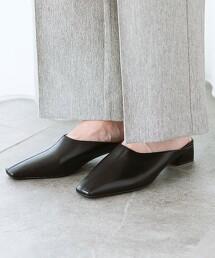 方楦頭 中央車縫 裸跟鞋 (鞋跟3cm)