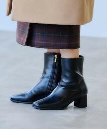 【本田翼著用】<Oggi×green label relaxing>[7days]方楦頭 短靴(鞋跟5.5cm) -防潑水-