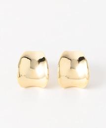 KFC 橢圓形金屬 耳環