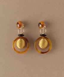 NFC 環形BALL&大理石紋MIX/耳釘