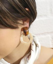 FM 大理石環形耳環