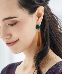CFC 色彩組合AC棒狀設計耳環