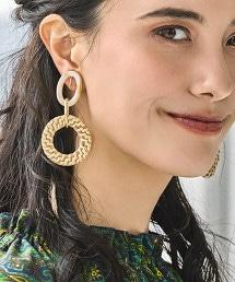 CFC 藤&大理石環型/ 耳環