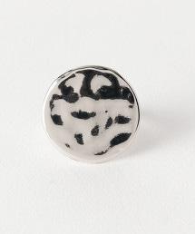 FM 金屬圓形板塊狀戒指
